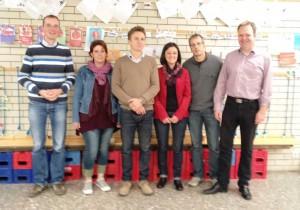 Frisch gewählter Vorstand: Schulleiter Christian Eberhard mit Susanne Feldmann, Thomas Peschke, Rosaria Balsamo, Askan Schmeißer und Jörg Fries-Lammers (alle von links nach rechts)