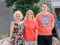 Klasse 3b, Äffchen: Frau Seulen, Frau Horn und Herr Beil